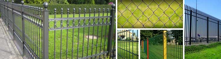 Clôture et grillage métallique, clôtures barreaudés en panneaux ou ...