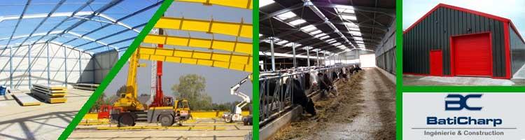 hangars métallique pour l'agriculture et l'industrie