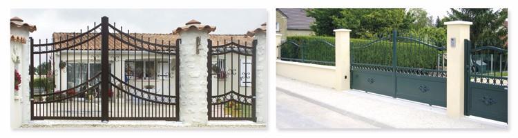 Portillons, portails et portes métalliques