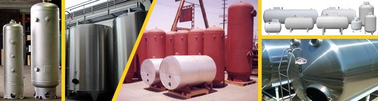 On réalise tout type de réservoirs, cuves et citernes en acier ou inox.