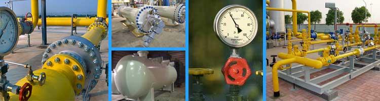 ESP Les équipements sous pression, postes gaz, chaudière, réchauffeur, filtre gaz...